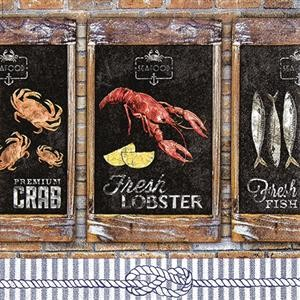 20 Servietten Seefood - Meeresfrüchte 33x33cm