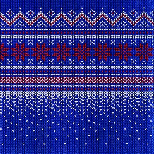 20 Servietten Knitted dark blue 33x33cm