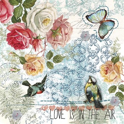 20 Servietten Love Is In The Air Bunte Fruhlingswelt Vintage