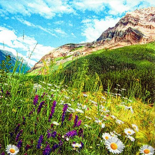 20 Servietten Mountain Scenery - Berglandschaft 33x33cm
