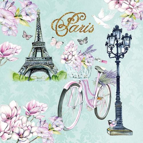 Ambiente Servietten Bike in Paris 33x33cm