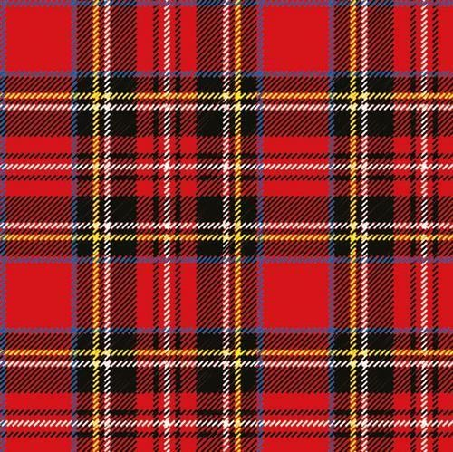 20 Servietten Scottish red 33x33cm
