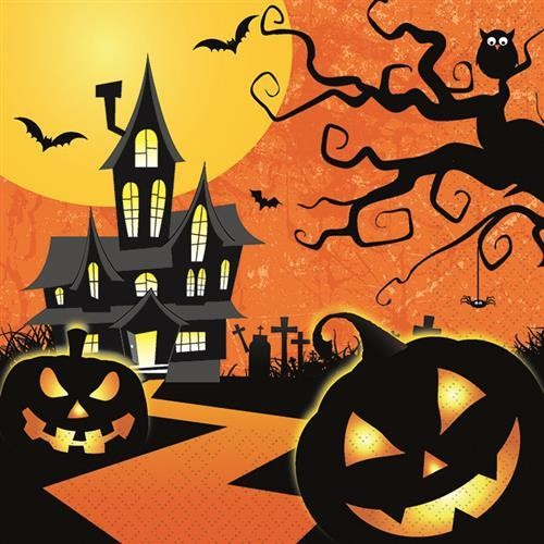20 Servietten Spooky Halloween - Halloween gruselig 33x33cm