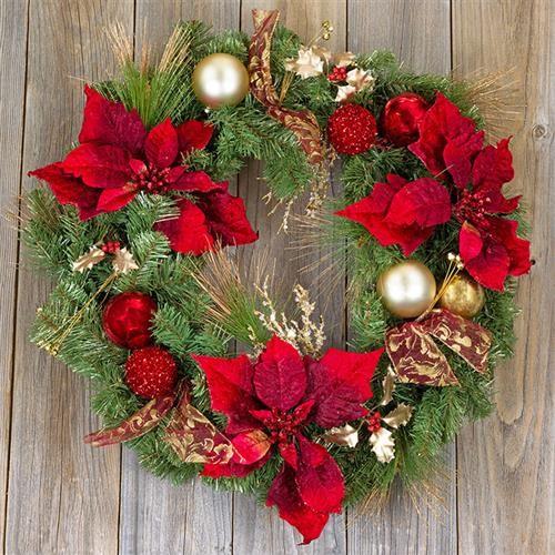 20 Servietten Traditional Wreath - Weihnachtlicher Kranz 33x33cm