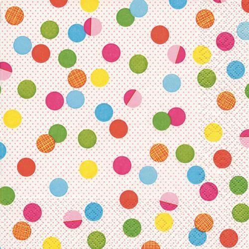 20 Servietten Party Dots - Party-Punkte 33x33cm
