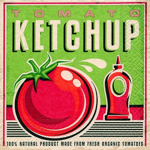 RP 20 Servietten Tomato Ketchup - Ketchup 33x33cm