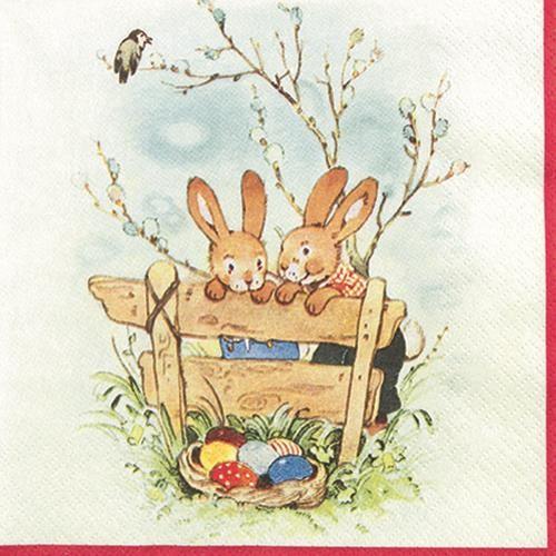 20 Servietten Bunny Friends - Hasen-Freundschaft 33x33cm