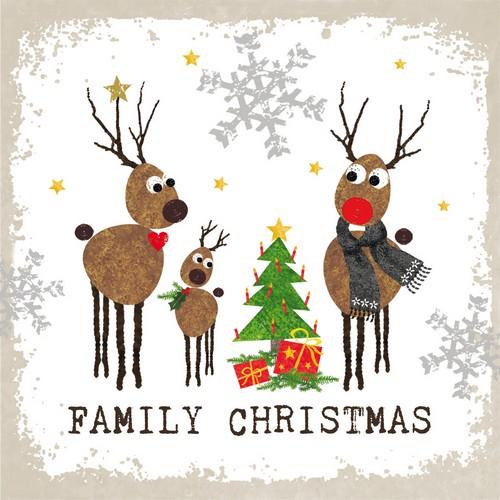 PPD Servietten Family Christmas 33x33cm