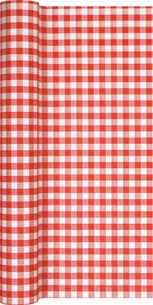 Tischläufer Karo rot 490x40cm