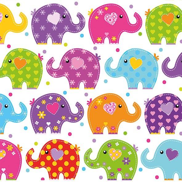 20 Servietten Funny Elephants 33x33cm