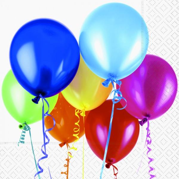20 Servietten Flying Balloons - Aufsteigende Ballons 33x33cm