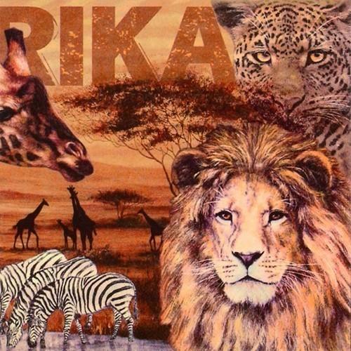 20 Servietten Africa Collage - Tiere der Safari 33x33cm
