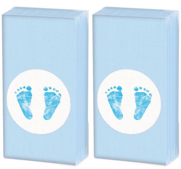 2x 10 Taschentücher Baby Steps Boy