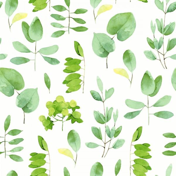 20 Cocktailservietten Fresh Leaves – Frische, grüne Blätter 24x24cm
