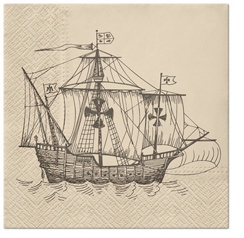20 Servietten Sailing Ship - Schiff auf dem Meer 33x33cm
