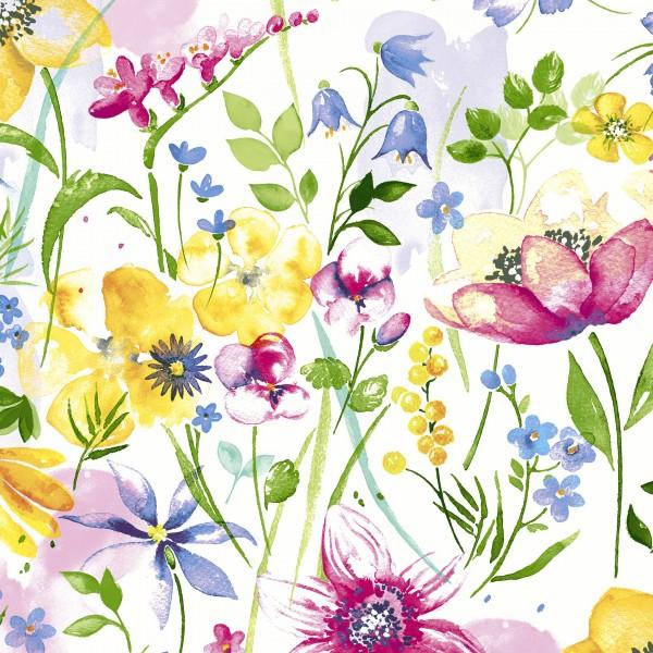 20 Cocktailservietten Flower Meadow – Mischung an Blumen 24x24cm