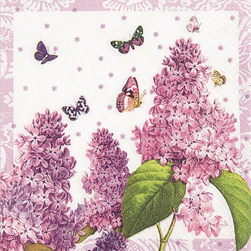 20 Servietten Painted Lilac - Frühling ganz in Lila 33x33cm