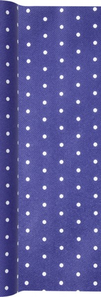 Tischläufer Mini Dots blue - Mini Punkte blau 490x40cm