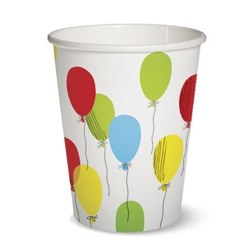 10 Pappbecher Balloons - Party Ballons 0,3l Ø8,5 x H10,2cm