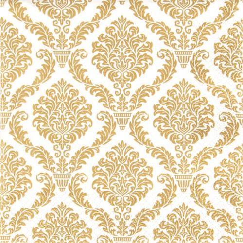 20 Servietten Elegant gold - Muster gold 33x33cm