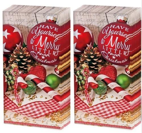 Kopie von 2x 10 Taschentücher Merry Little Christmas