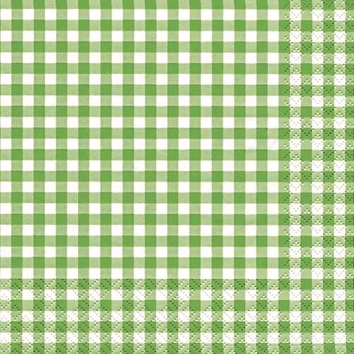 20 Servietten Karo grün 33x33cm
