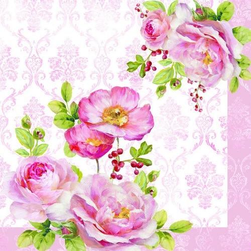 EasyLife Servietten Floral Damask 33x33cm