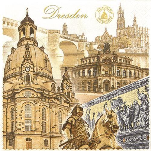 20 Servietten Dresden 33x33cm