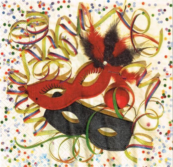 RP 20 Servietten Carnival - Karnevalsmasken 33x33cm