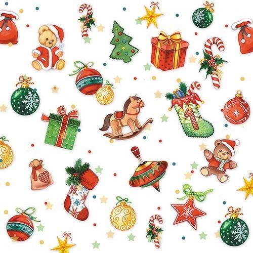 20 Servietten Tree Decorations – Weihnachtliche Kleinigkeiten 33x33cm