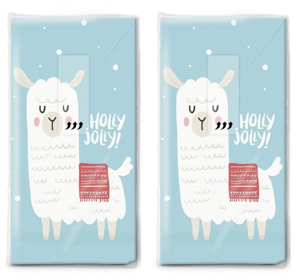 2x 10 Taschentücher Holly Jolly