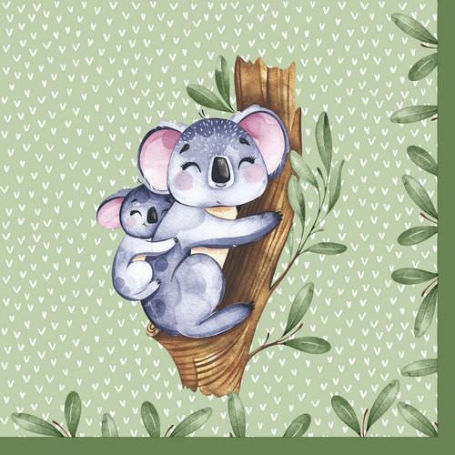 20 Servietten Koalas 33x33cm