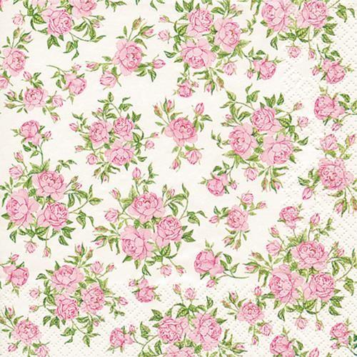 20 Servietten Little Roses - Kleine Rosen 33x33cm