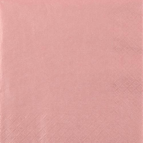 20 Servietten Perl Effect antique rose - altrosa 33x33cm