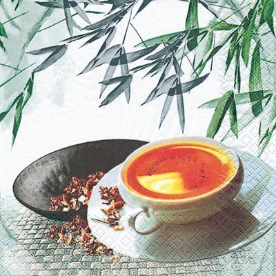 RP 20 Servietten Tea Atmosphere - Tee-Zeit 33x33cm