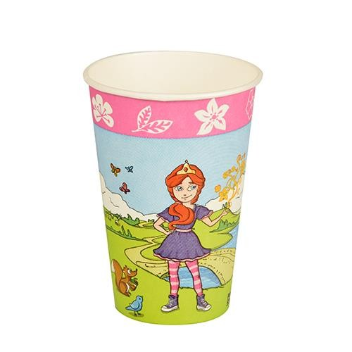 10 Pappbecher Magic Experience Princess - Märchenland 0,2l, H9,7 x Ø7cm