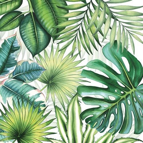 20 Servietten Tropical Leaves 33x33cm