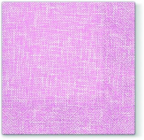 20 Servietten Linen Structure rosa - Struktur elegant rosa 33x33cm