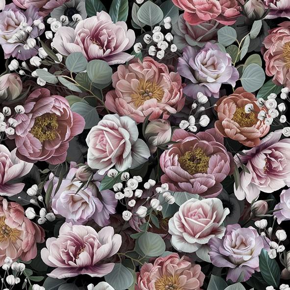 Ambiente 20 Servietten Vintage Flowers Black