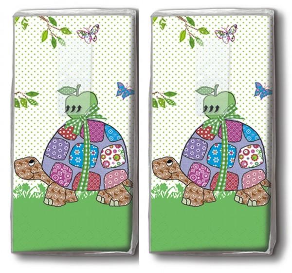 DP 10 Taschentücher Paul und Paula - Lustige Schildkröten