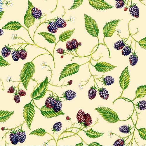 Dommos Servietten Black Raspberries 33x33cm