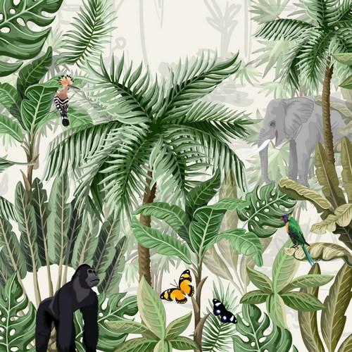 Duni Paper Design Servietten Rainforest