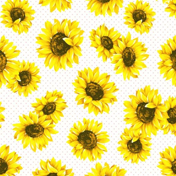 20 Cocktailservietten Sunflower Garden – Sonnenblumenblüten 24x24cm