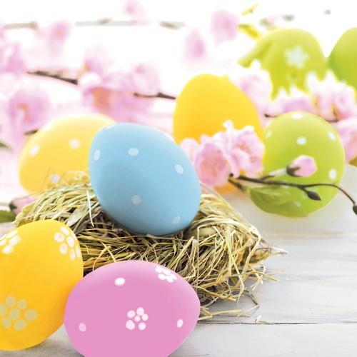 20 Servietten Pastel Eggs – Ostereier in Pastell 33x33cm