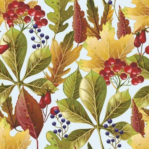 Daisy Servietten Rowanberry and Forest Leaves 33x33cm
