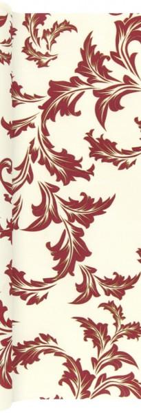 Tischläufer Luxury champ./bordeaux - Ornamente edel champ./bordeaux 490x40cm