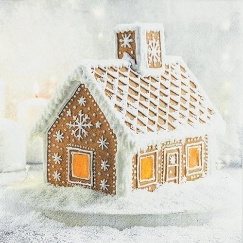 20 Servietten Gingerbread House 33x33cm