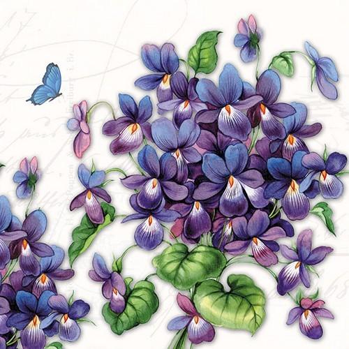 20 Servietten Viola 33x33cm