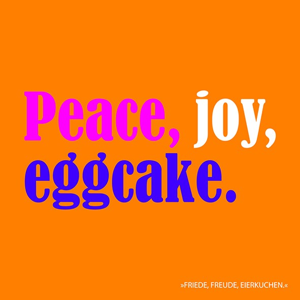 20 Servietten Peace, Joy, Eggcake 33x33cm