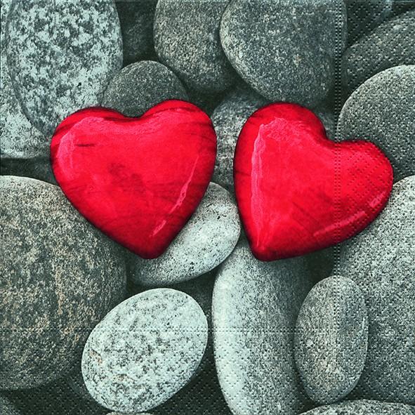 Servietten Love Stones 33x33cm